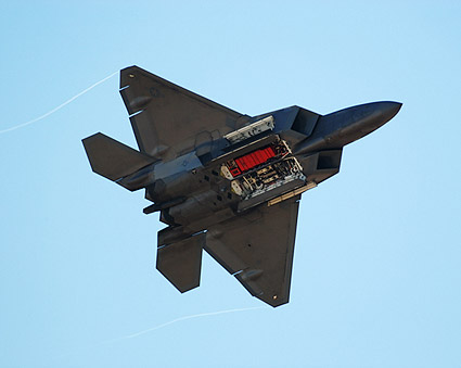 F-22 Raptor with Weapons Bays Photo Print