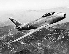 F-86 / F-86A Sabre in Flight Korea Photo Print for Sale