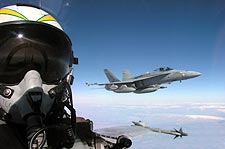 F/A-18 Hornet Pilot View F-18 Photo Print for Sale