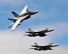F/A-18E Super Hornets of Carrier Air Wing (CVW) 2 Photo Print for Sale