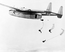 Fairchild C-82 Packet Paratroopers Jumping Photo Print