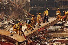 FDNY Rescue Workers at Ground Zero 9/11 Photo Print for Sale