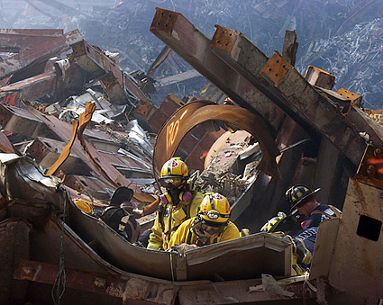 FEMA and FDNY Recovery Workers 9/11 Photo Print