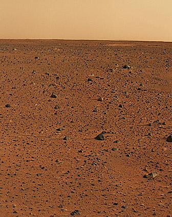 First Color Image from Mars Rover Photo Print