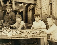 Fish Cutters Child Labor Lewis Hine 1911 Photo Print for Sale
