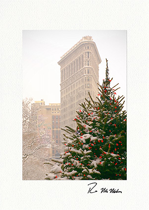 Flatiron Building Christmas Tree NYC Boxed Christmas Cards