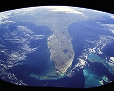 Florida & Bahamas Seen from Space Photo Print