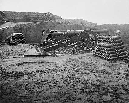 Fort Putnam Cannons S.C. Civil War 1865 Photo Print