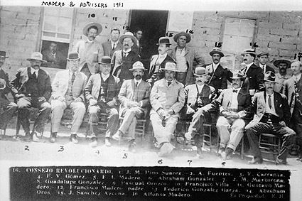 Francisco Madero with Advisors Mexican Revolution Photo Print
