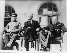 Franklin Roosevelt, Churchill & Stalin Photo Print