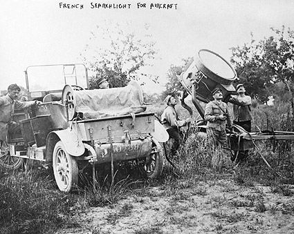 French Soldiers w/ Searchlight WWI Photo Print