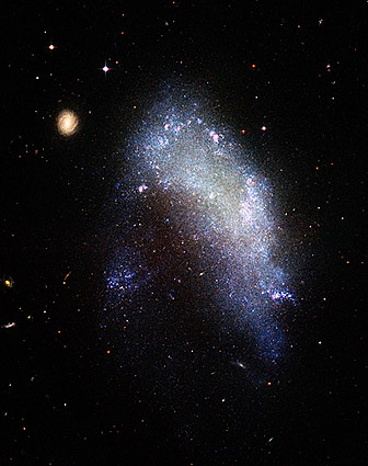 Galaxy in Motion Through Galaxy Cluster Hubble Telescope Photo Print