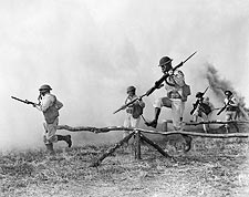 Gas Mask Training Exercise U.S. Army Troops WWII Photo Print for Sale
