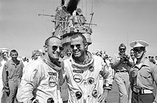 Gemini 5 Astronauts Gordon Cooper & Pete Conrad Photo Print for Sale