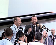 Gemini 5 Crew News Conference Photo Print for Sale