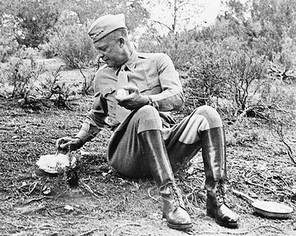 General Dwight D. Eisenhower Candid WWII Photo Print