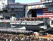 USS George H.W. Bush CVN 77 Commissioning Ceremony Photo Print for Sale