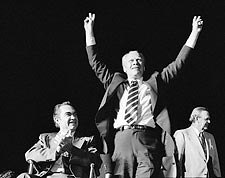 Gerald Ford & George Wallace Victory Sign Photo Print for Sale
