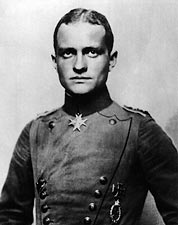 German WWI Fighter Pilot Red Baron Portrait Photo Print for Sale