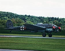 German WWII Heinkel He-111 Bomber Take-off Photo Print for Sale