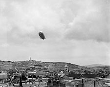 Graf Zeppelin Over Gethsemane, Jerusalem Photo Print for Sale