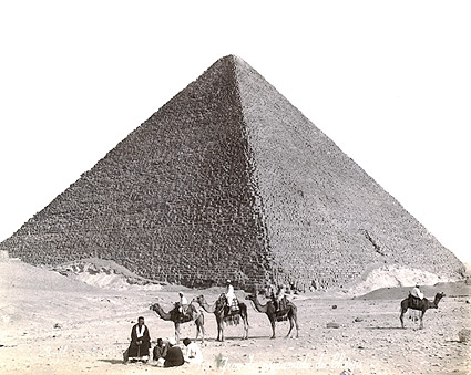 Great Pyramid & Camel Riders Egypt 1867 Photo Print