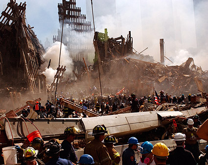 Ground Zero Rescuers Search for Survivors 9/11 Photo Print