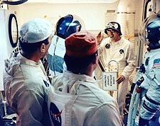 Guenter Wendt w/ Apollo 14 Astronauts Photo Print for Sale