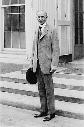 Henry Ford Portrait Standing by White House Photo Print