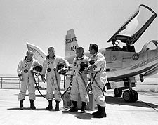 HL-10 on Dry Lake w/ Pilots Photo Print for Sale