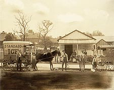 Horse Drawn Ice Wagon Standard Ice 1900 Photo Print for Sale