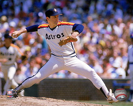 Houston Astros Baseball Nolan Ryan Pitching Photo Print