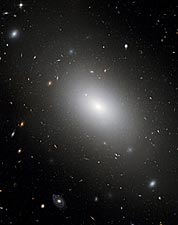 Hubble Space Telescope Elliptical Galaxy  Photo Print for Sale