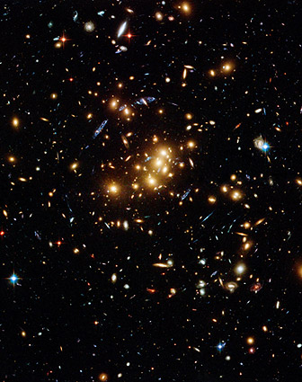 Hubble Space Telescope Galaxy Cluster Photo Print