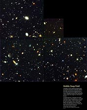 Hubble Space Telescope Galaxy Deep Field Photo Print for Sale