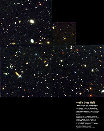 Hubble Space Telescope Galaxy Deep Field Photo Print