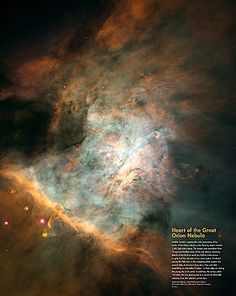 Hubble Space Telescope Great Orion Nebula Photo Print