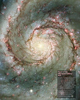 Hubble Space Telescope Whirlpool Galaxy Photo Print