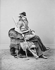 Hunter Seth Kinman w/ Lincoln's Bear Chair Photo Print for Sale