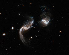 Interacting Galaxy Arp 256 Hubble Space Telescope Photo Print for Sale