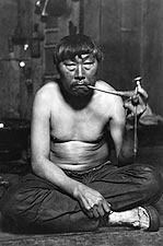 Inuit Smoking Pipe Alaska Lomen Brothers Photo Print for Sale