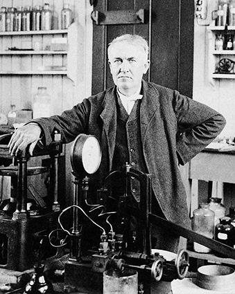 Inventor Thomas Edison in Laboratory 1901 Photo Print