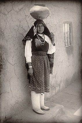 Isleta Pueblo Woman in New Mexico 1910 Photo Print