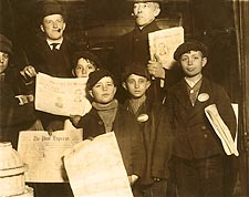 Italian Newsies New York 1910 Lewis Hine Photo Print for Sale