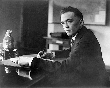 J. Edgar Hoover Early Portrait at Desk Photo Print