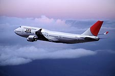 Japan Airlines Boeing 747-400 in Flight Photo Print for Sale