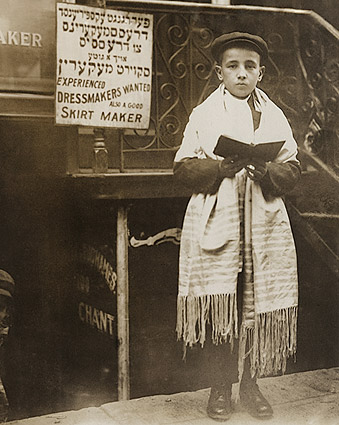 Jewish Boy on East Side, New York City 1911 Photo Print