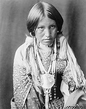 Jicarilla Indian Woman Edward S. Curtis Photo Print for Sale