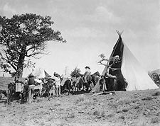 Jicarilla Tipi and Indians Edward S. Curtis Photo Print for Sale