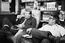 Jimmy Carter and Billy Carter Candid 1976 Photo Print for Sale